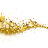 Background with stars. Background with sparkling golden stars Royalty Free Stock Photography