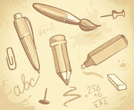 Background of stationery Royalty Free Stock Images