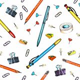 A background with stationery Stock Image