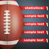 Background of Statistics American Football Royalty Free Stock Images