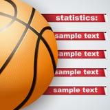 Background of Statistics Basketball Royalty Free Stock Photo