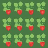 Background with stawberry. Ornamet with stawberry on green background Royalty Free Stock Photos