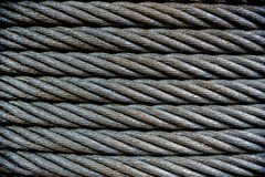 Background with a steel cable. Royalty Free Stock Photos