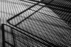 Background, steel construction, black and white Stock Photos