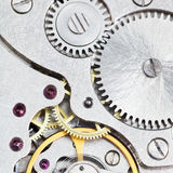 Background from steel movement of retro watch Royalty Free Stock Image