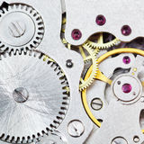 Background from steel movement of vintage watch Stock Images