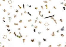 Background of steel screws and bolts Royalty Free Stock Image