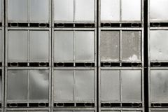Background of steel silver container stacked Stock Photos