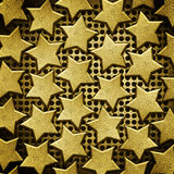 Background with steel stars Stock Images