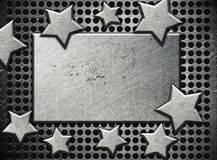 Background with steel stars Royalty Free Stock Photo