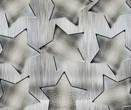 Background with steel stars Royalty Free Stock Photography