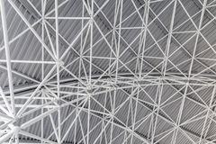 Background with steel structure. Abstract steel structure of a roof Stock Image