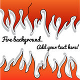 Fire-sticker background. Background of stick-fire with place for your text Royalty Free Stock Photography