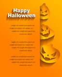 Background with stickers for Halloween Royalty Free Stock Images