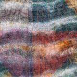 Background from stitched dark silk batik. Close up Stock Image