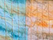 Background from stitched silk batik Royalty Free Stock Photos