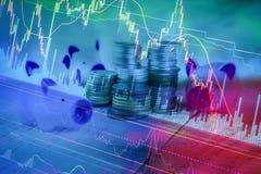 Background of stock market chart Royalty Free Stock Image