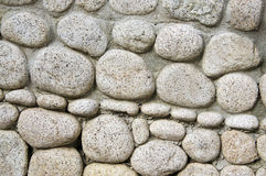 Background stone. Old floor built with river stones Royalty Free Stock Images