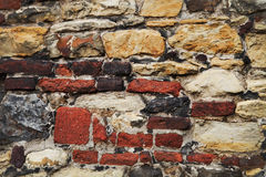 Background of stone and brick wall. Texture Stock Photo