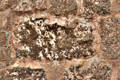 Background of stone brown wall texture photo. Stock Photos