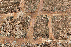 Background of stone brown wall texture photo. Royalty Free Stock Photography