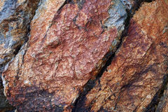 Background: stone multicolored rock Royalty Free Stock Images