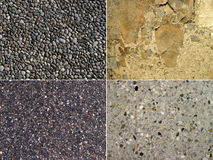 Background of stone. Set of 4 elements Royalty Free Stock Photos