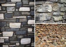 Background of stone. Set of 3 elements Stock Image
