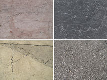 Background of stone. Set of four elements stock images
