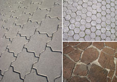 Background of stone. Set of three elements, Street Stock Images