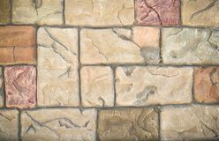 Background of stone wall made Royalty Free Stock Photo