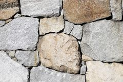 Background of stone wall texture. Background of old stone wall texture, close up Stock Image