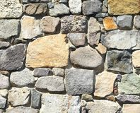 Background of stone wall texture photo. Close-up. Royalty Free Stock Images