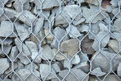 Background of stones, fixed wire. Beautiful Background of stones, fixed wire Stock Photo