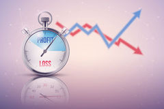 Background of stopwatch for forex trader royalty free illustration