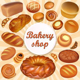 background store of bread and baking fresh bread se Royalty Free Stock Photo