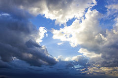 Background of storm clouds Royalty Free Stock Images