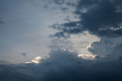 Background of storm clouds before a thunder- storm Royalty Free Stock Photography