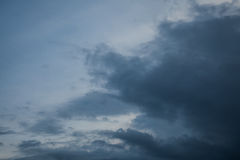 Background of storm clouds before a thunder- storm Royalty Free Stock Photo