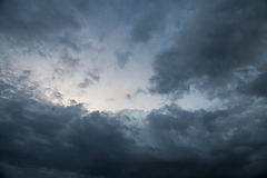 Background of storm clouds before a thunder- storm Stock Photography