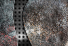 Background stoun with metal grid. Made in 2d software Royalty Free Stock Photography