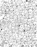 Background with strange faces. vector illustration