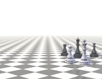 Background with strategic chess set Stock Images