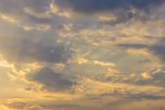 Background Of Stratocumulus Clouds And Sky Stock Photography