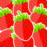 Background from strawberries Royalty Free Stock Photo