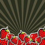 Background with strawberries Royalty Free Stock Photos