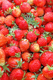 Background from strawberries Stock Images