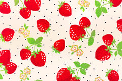 Background with strawberries. Vintage stlye Royalty Free Stock Photos