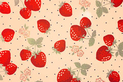 Background with strawberries. Vintage style Vector Illustration