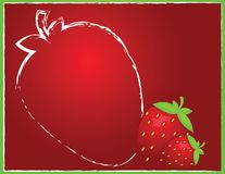 Background with strawberry Stock Image